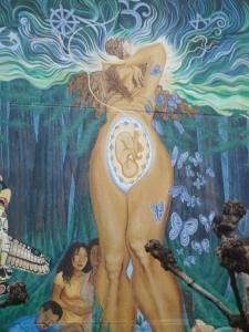 birth goddess mural